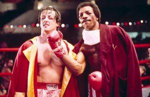 Stallone junto a su amigo Carl Weathers (Apollo)