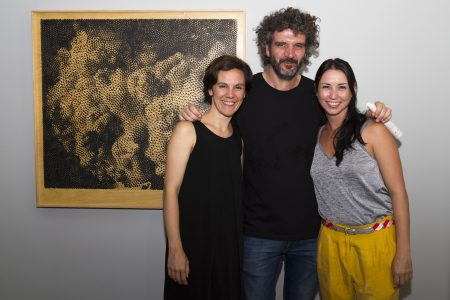 Juan Rey y Celina Pla junto a la curadora Silvana Spadaccini